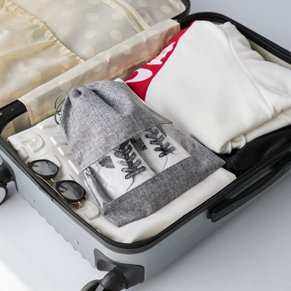 Drawstring Shoe Bags In Suitcase