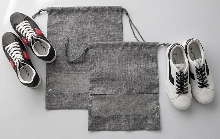 Drawstring Shoe Bags Pvc Window