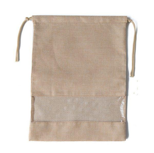 Drawstring Shoe Bags Wholesale Beige
