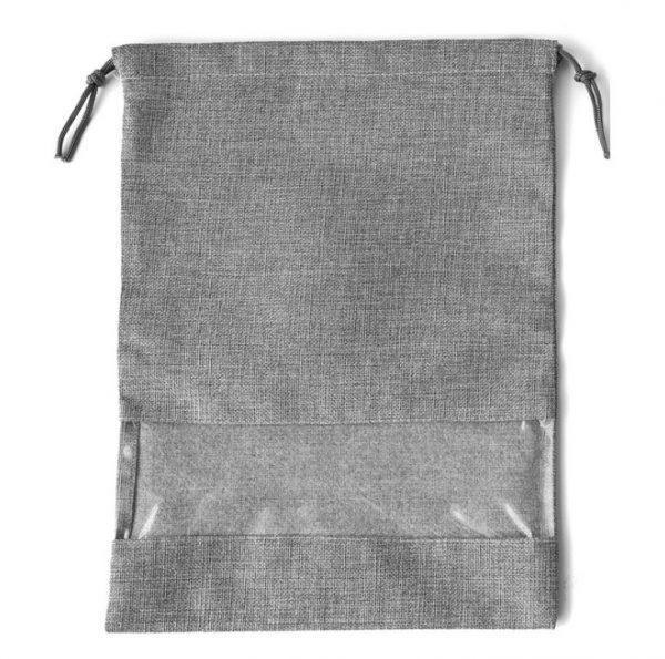 Drawstring Shoe Bags Wholesale Gray