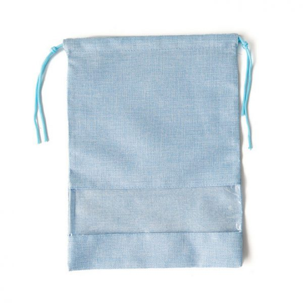 Drawstring Shoe Bags Wholesale Light Blue