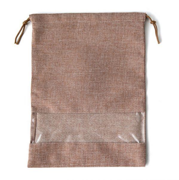 Drawstring Shoe Bags Wholesale Light Brown