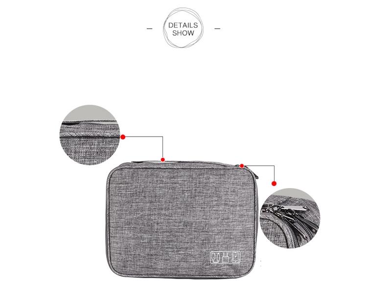 Electronics Travel Case Zipper