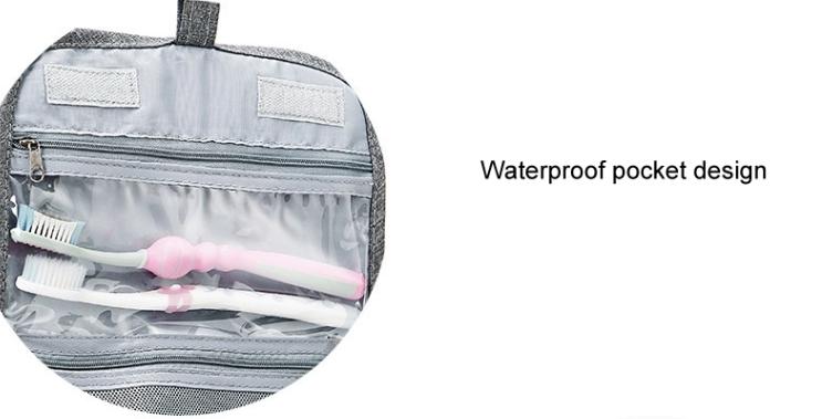 Hanging Toiletry Bag Organizer Plastic Pocket