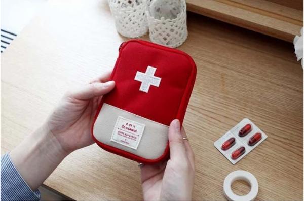 Medicine Storage Bag Red