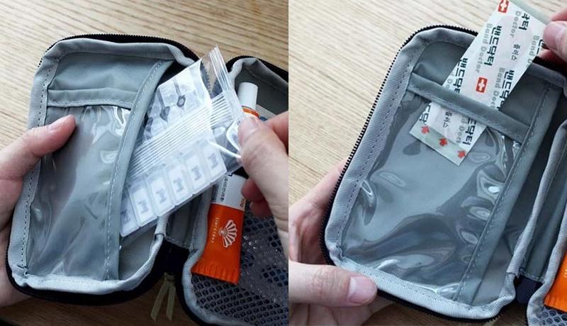 Medicine Storage Bag Transparent Pocket