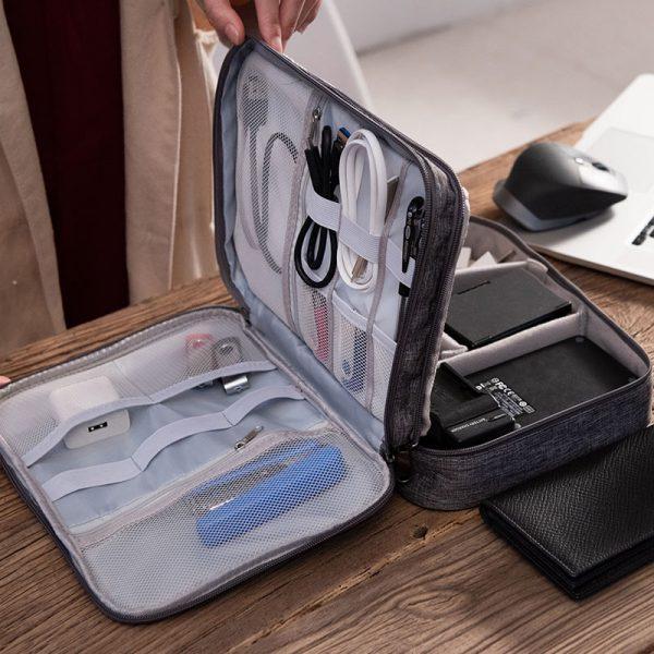 Multi Functional 3 layer Electronics Travel Case