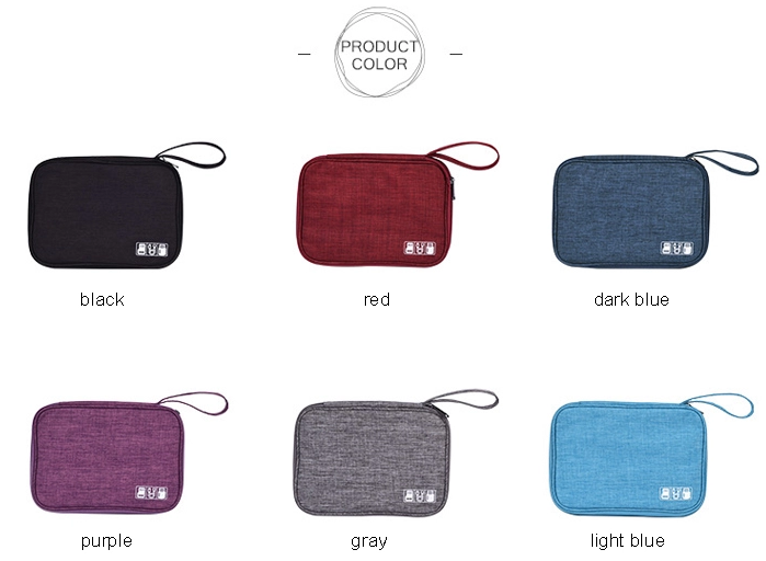 Travel Cable Organizer Colors