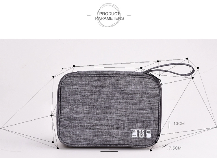 Travel Cable Organizer Size