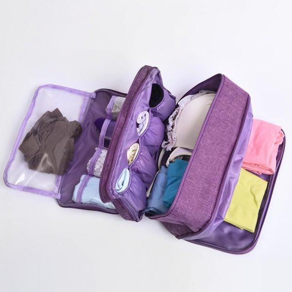 Travel Underwear Organizer Interior Structure