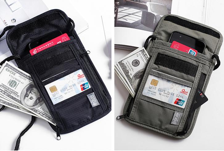 waterproof passport holders black grey