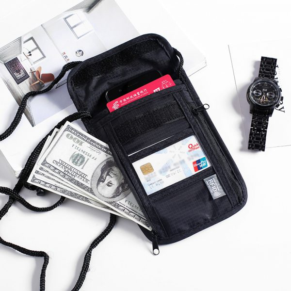 wholesale passport holders with lanyard black