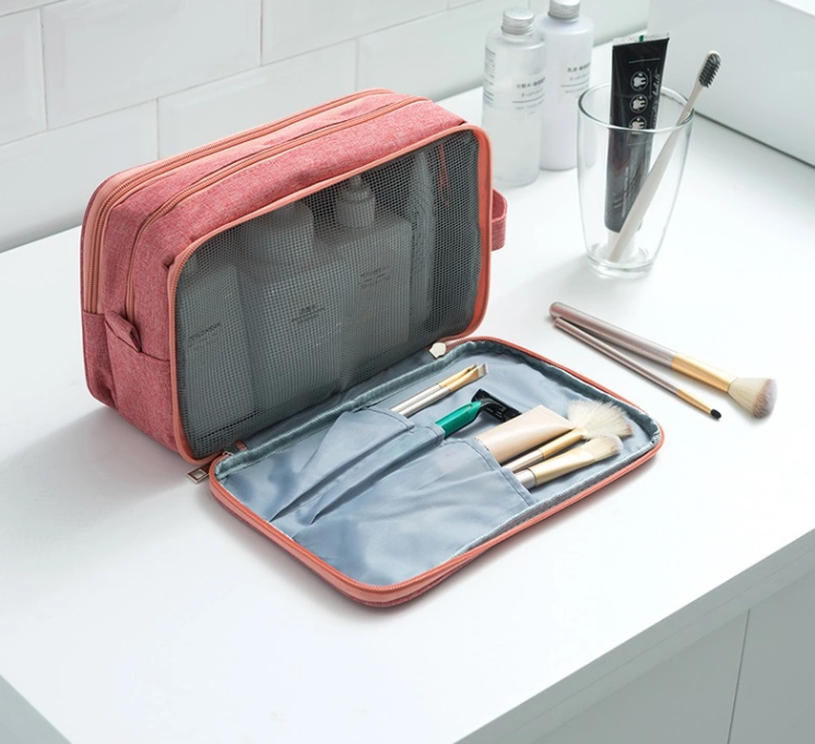 wholesale tavel toiletry bag with makeup brush