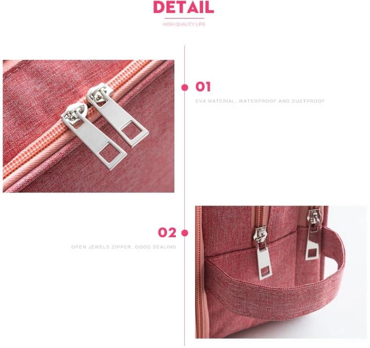 wholesale tavel toiletry bag zipper detail
