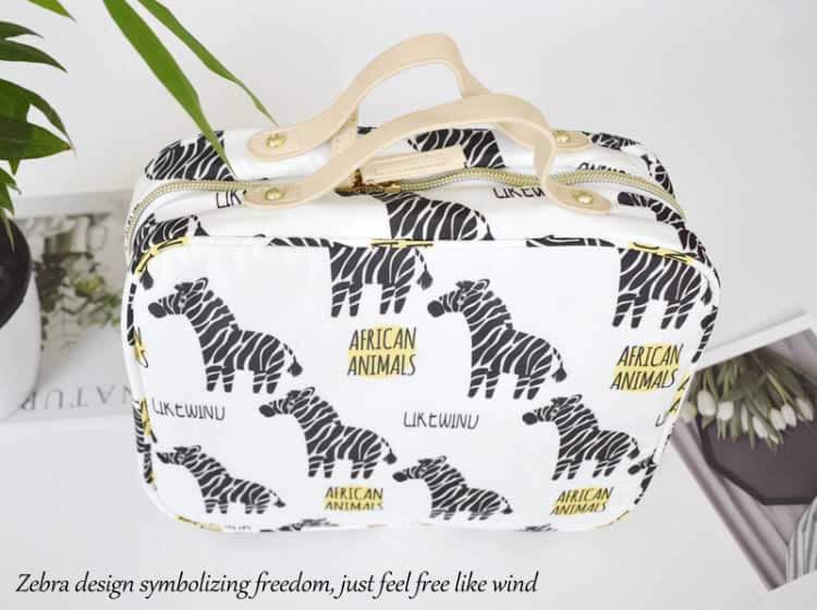 makeup pouch wholesale zebra