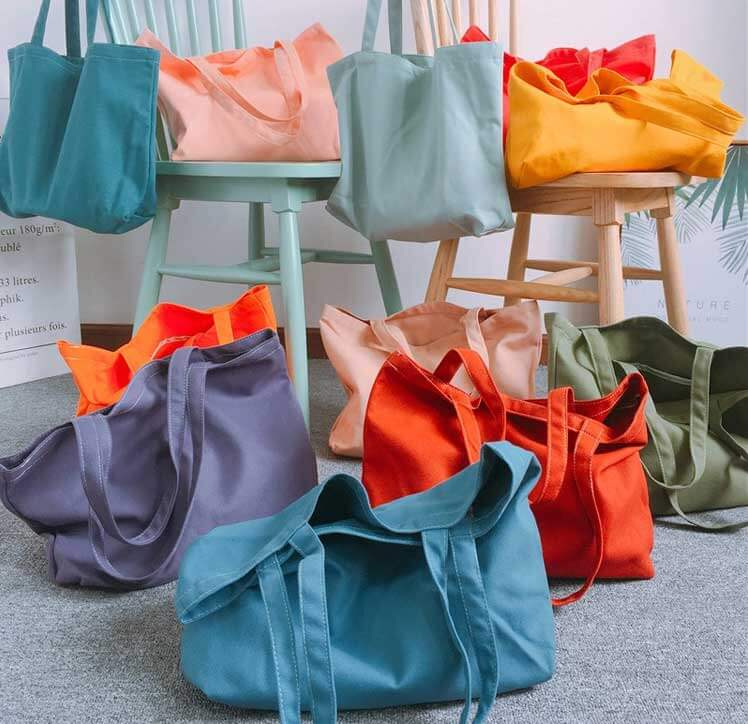 colorful custom shopping bags wholesale