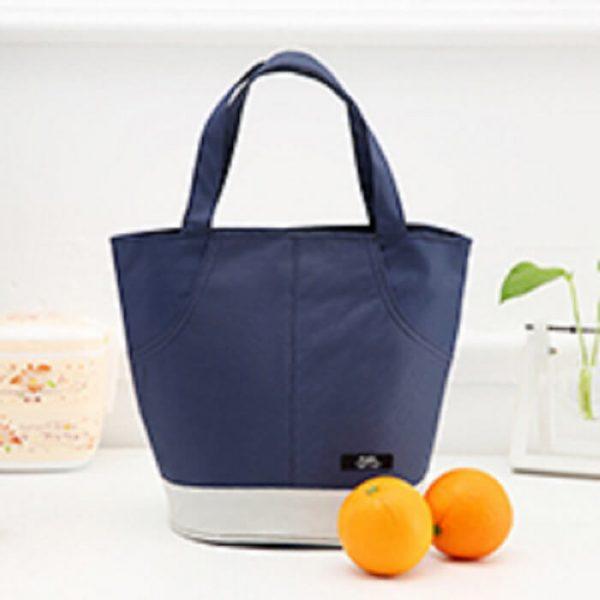 cooler tote bag navy blue