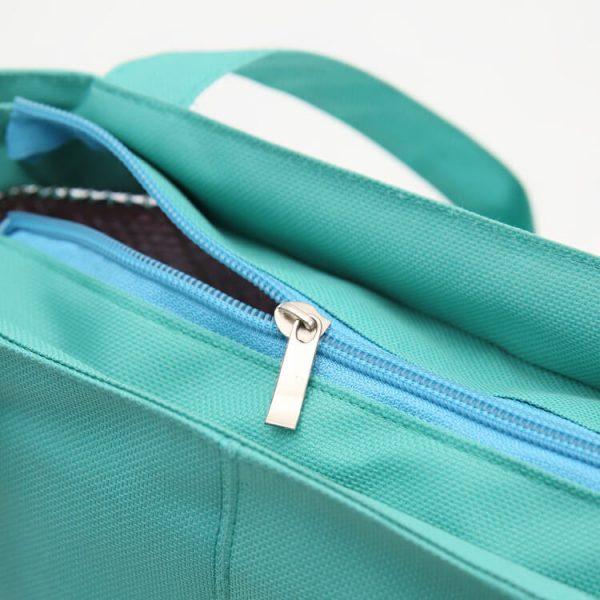 cooler tote bag zipper
