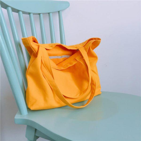 custom shopping bags wholesale orange