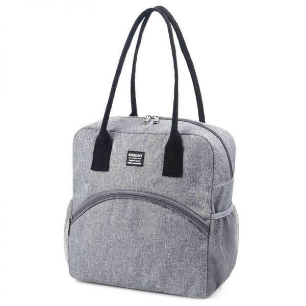 picnic tote bag gray