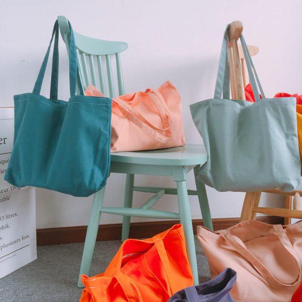 plain custom shopping bags wholesale