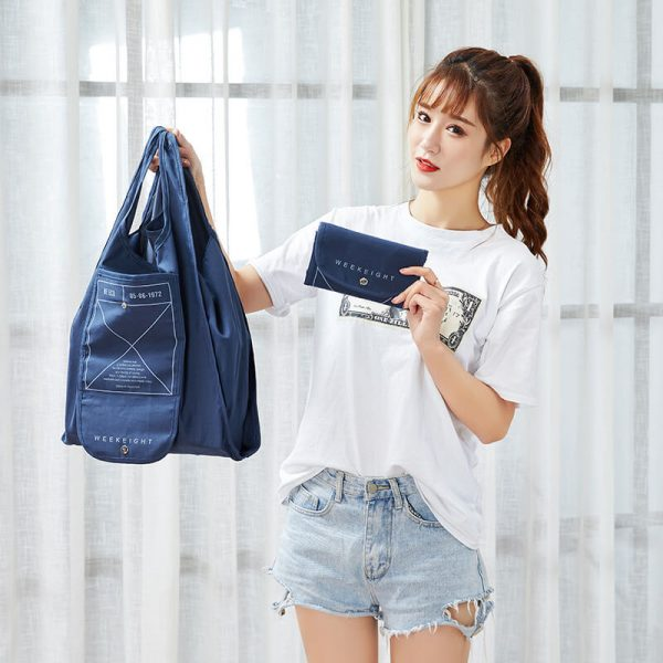 reusable grocery bags wholesale blue