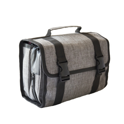 gray hanging washbag