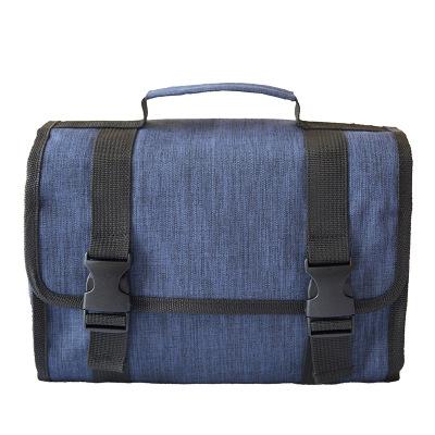 blue hanging washbag