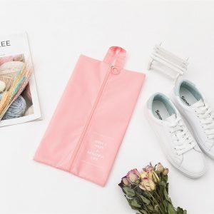 pink zipper shoe bag gallery